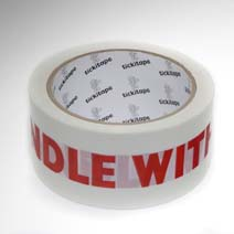 AS974 Printed vinyl packaging tape Handle with Care 50mm x 66m